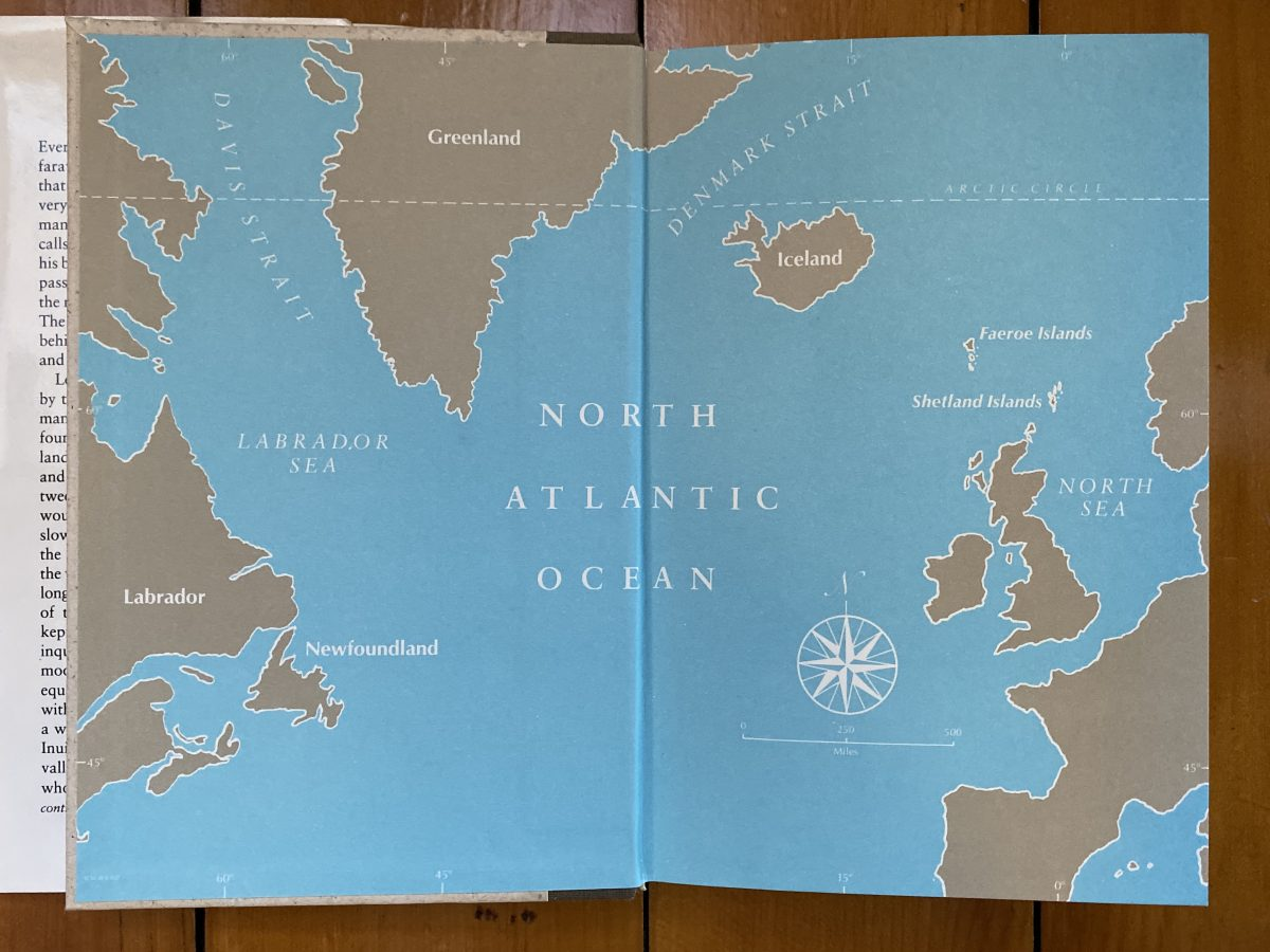 Map of the North Atlantic