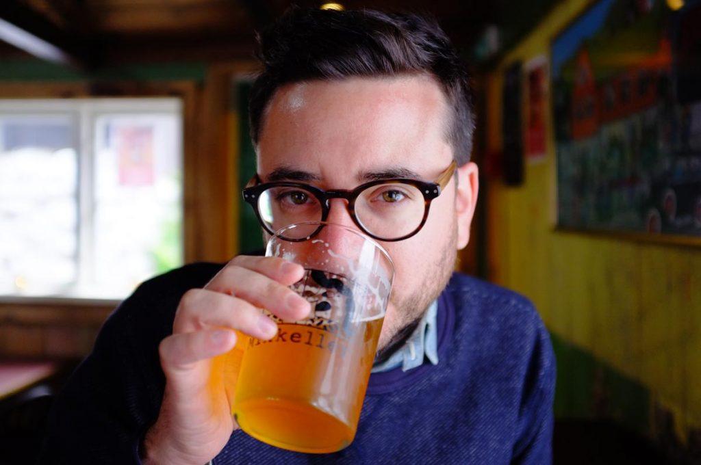 Drinking a beer at Mikkeller, Tórshavn