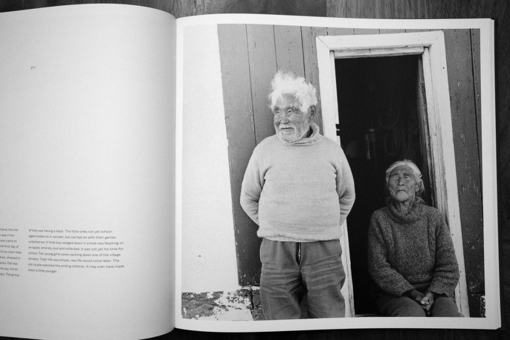 Photo of a man and woman in Greeland, from Faces of the North